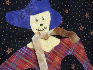 An Autumn Wallhanging - scarecrow close-up