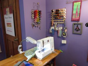 Sewing Station with Thread Racks
