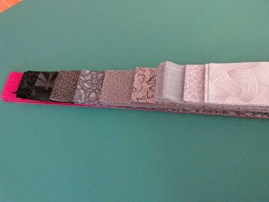 Two inch strips of fabric