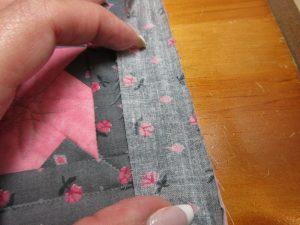 Machine Sewn Binding close-up